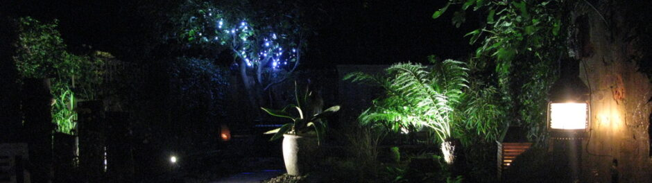 Garden lighting in Winchelsea